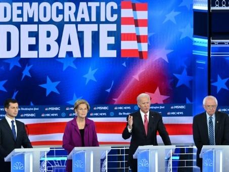 Primaire démocrate: un nouveau débat dans l'ombre de la mise en accusation de Trump