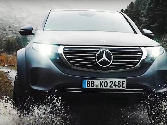 Le Mercedes EQC 4x4² encore plus méchant en pleine action (vidéo)