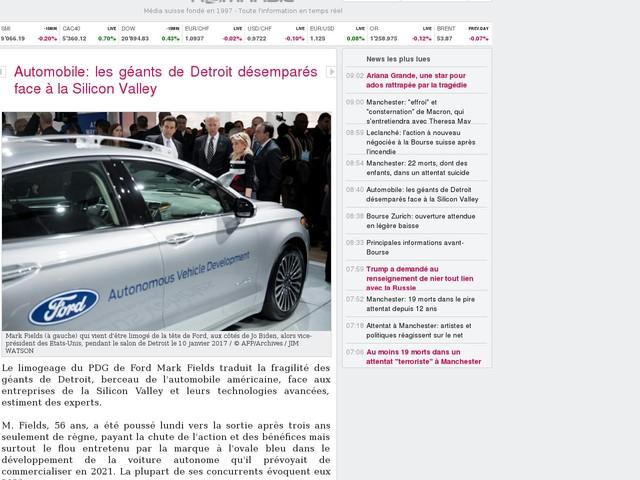 Automobile: les géants de Detroit désemparés face à la Silicon Valley