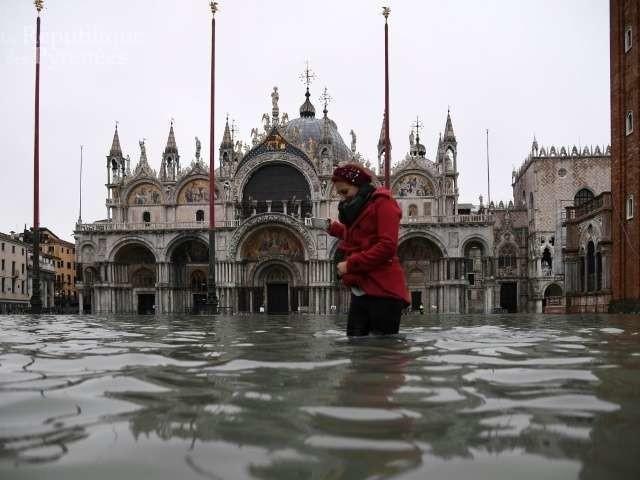 En images. Venise abasourdie après une « acqua alta » historique