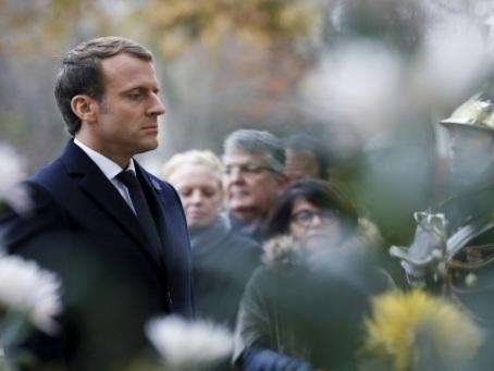 Macron commémore son premier 11-novembre en tant que président