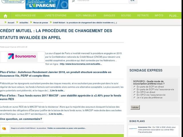 Crédit Mutuel : la procédure de changement des statuts invalidée en appel