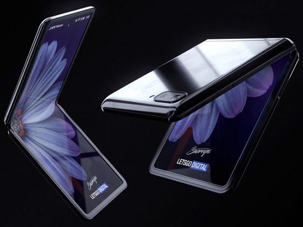 Samsung Galaxy Z Flip : le smartphone pliable se montre dans plusieurs rendus 3D