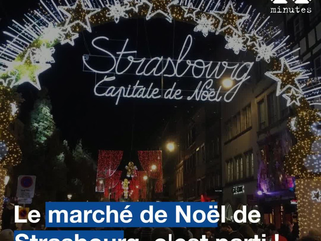 VIDEO. Le marché de Noël de Strasbourg, c'est parti !