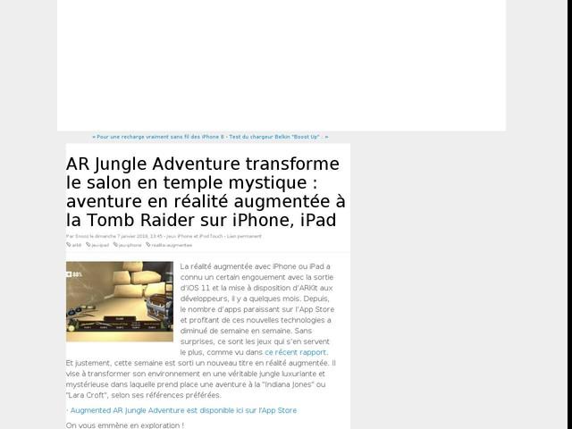 AR Jungle Adventure transforme le salon en temple mystique : aventure en réalité augmentée à la Tomb Raider sur iPhone, iPad