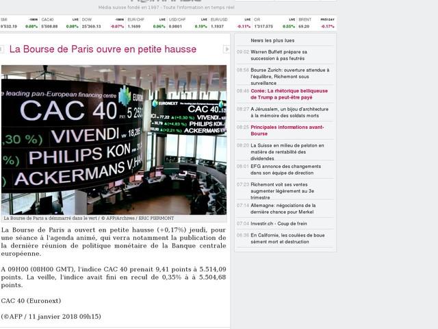 La Bourse de Paris ouvre en petite hausse