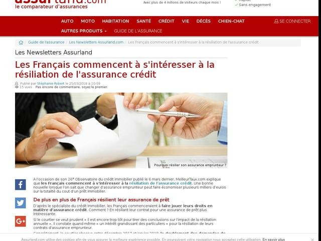 Les Français commencent à s'intéresser à la résiliation de l'assurance crédit