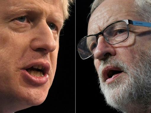 GB/Elections: Boris Johnson et Jeremy Corbyn s'écharpent sur le Brexit