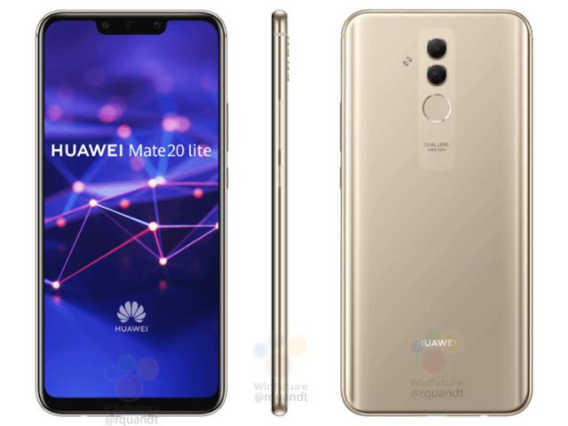Huawei Mate 20 Lite : un rendu de presse affiche le smartphone
