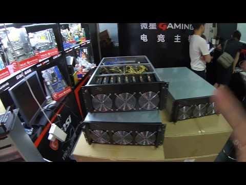 Video Chine, une Machine à miner Chinoise avec 8 cartes P106 pour devenir Mineur au top.