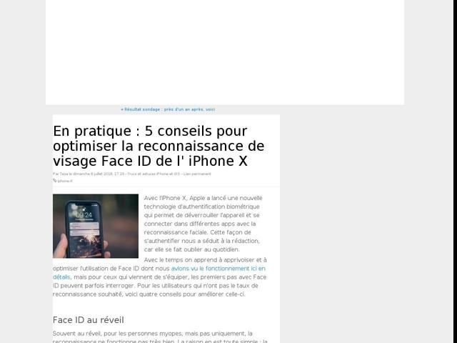 En pratique : 5 conseils pour optimiser la reconnaissance de visage Face ID de l' iPhone X
