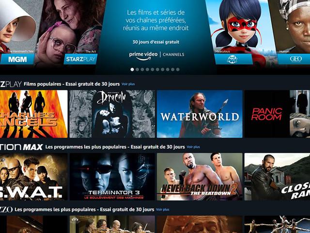 Amazon Prime Video concurrence Molotov TV en lançant Channels en France