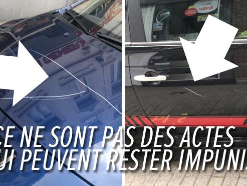 """Une trentaine de véhicules griffés volontairement à Etterbeek: """"C'est de la méchanceté pure"""""""