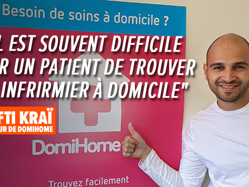 """Laufti a créé DomiHome, une appli gratuite qui met en relation patients et infirmiers à domicile: """"Je sais que ça répond à un besoin"""""""