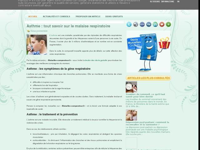 Asthme : tout savoir sur le malaise respiratoire