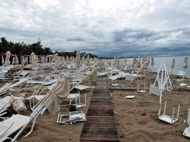 Grèce: Décès de sept touristes lors de violents orages de grêle