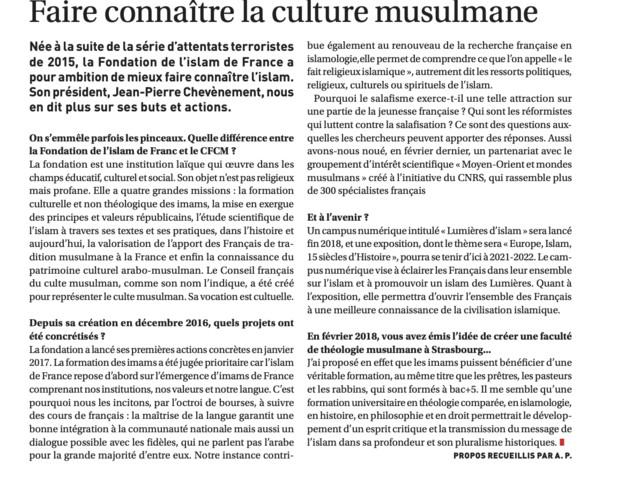 """""""Faire connaître la culture musulmane"""""""