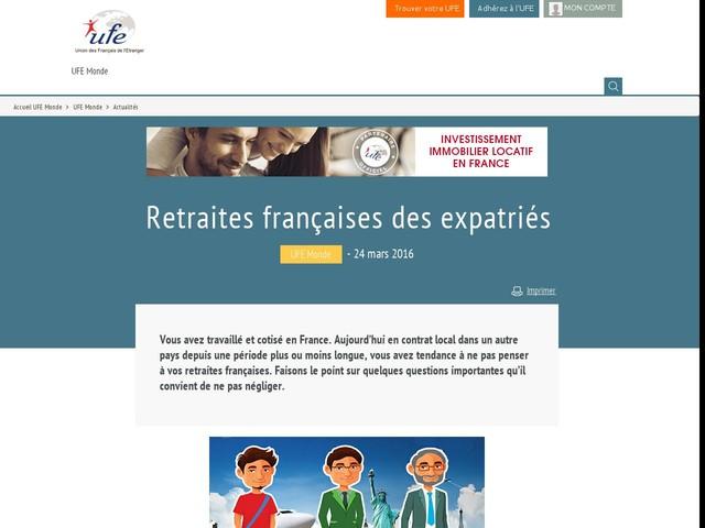 Retraites françaises des expatriés