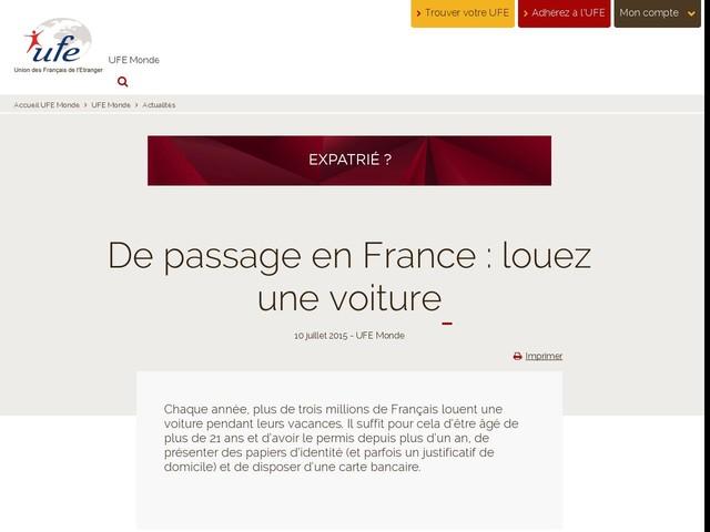 De passage en France : louez une voiture