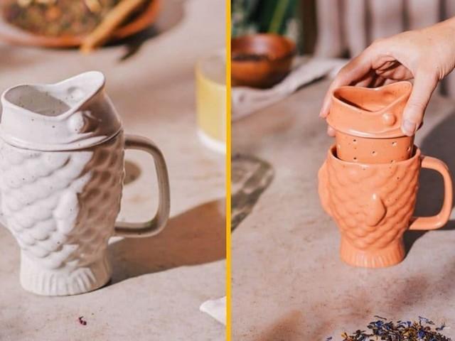[TOPITRUC] Un mug dorade avec infuseur à thé intégré