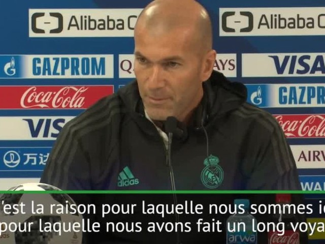 Foot - CM des clubs - Real - Zinédine Zidane (Real Madrid) sur le Mondial des clubs : «On veut remporter le trophée»