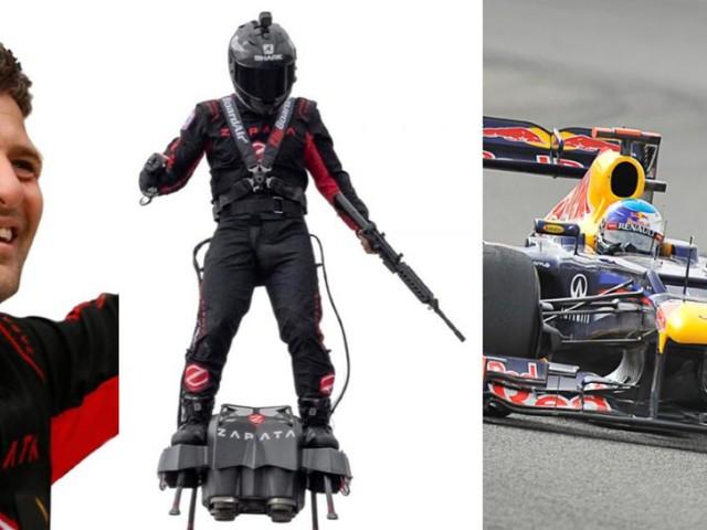 L'homme volant s'attaque à une F1 à Francorchamps: «Je reviendrai l'an prochain avec une voiture volante qui atteint les 400 km/h!»