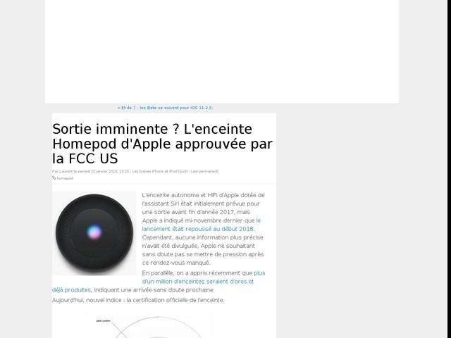 Sortie imminente ? L'enceinte Homepod d'Apple approuvée par la FCC US