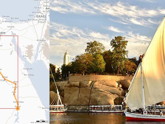 La Croisière Longue : descente du Nil du Caire à Assouan en bateau de croisière 5*, la nouvelle offre exclusive du spécialiste n°1 de l'Egypte