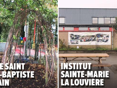 """""""Ose le Vert"""" fait entrer LA NATURE dans les cours de récré: visite dans 2 écoles (vidéo)"""