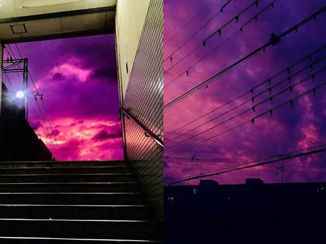 [Zone 42] Au Japon, le ciel est devenu violet avant le passage du super typhon (photos)