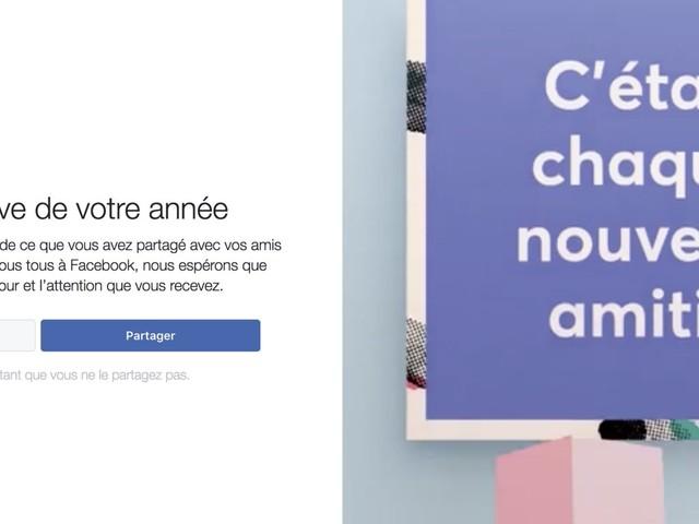 Comment créer / partager la rétrospective de votre année 2017 de Facebook ?