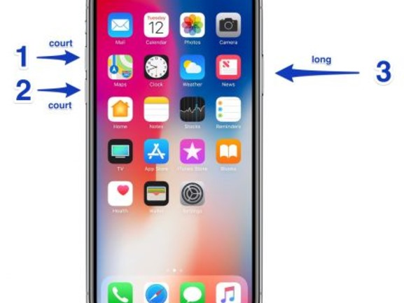 Comment redémarrer l'iPhone X ?