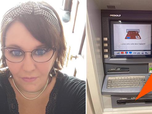 """Christelle utilise le distributeur de billets du Cora de Hornu, mais l'argent ne sort pas : """"Perdre 1.000 euros, ça vous bouffe la vie"""""""