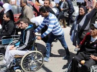 Tunisie – Des blessés de la Révolution de Kasserine se dirigent au palais de Carthage à pieds