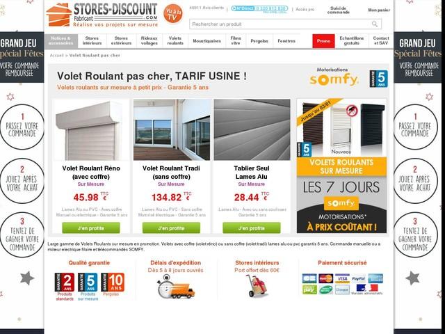 Volet Roulant pas cher - Stores-Discount.com