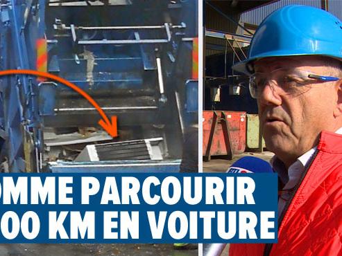 """Un frigo broyé en plein Liège: """"Une erreur qui n'est pas censée arriver"""""""