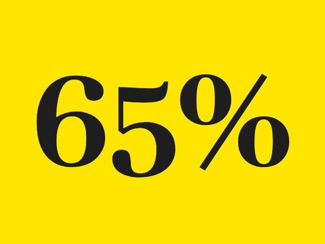 Le chiffre de la semaine : 65%