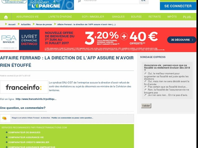 Affaire Ferrand : la direction de l'AFP assure n'avoir rien étouffé