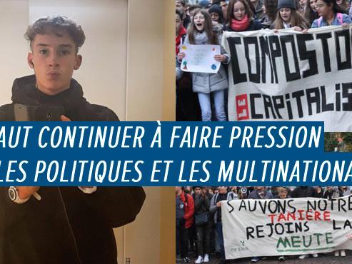 """Noah organise la marche pour le climat à La Louvière : """"Trouver des solutions pour sortir de ce SYSTÈME DE SURCONSOMMATION"""""""