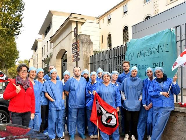Narbonne : grève des infirmières des blocs opératoires à l'hôpital