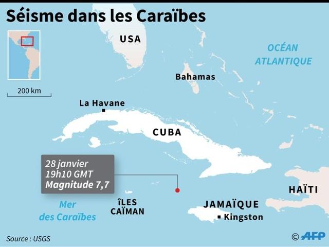 Un fort séisme fait trembler les Caraïbes, alerte au tsunami