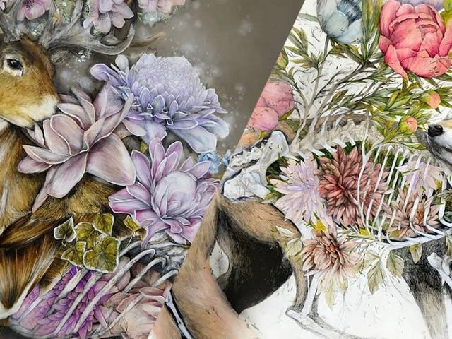 Nunzio Paci peint l'harmonie entre animaux et végétaux dans des œuvres oniriques