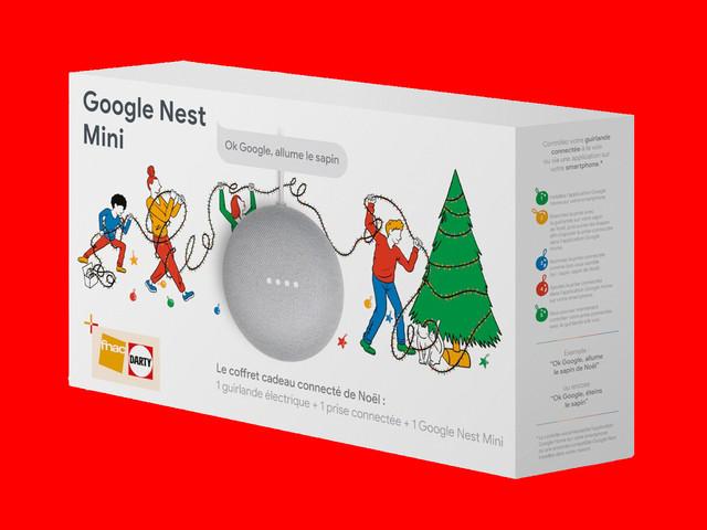 Une guirlande, un Google Nest Mini, une prise intelligente: voici un pack pour transformer Noël en fête connectée
