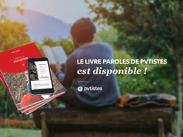 Paroles de PVTistes, un nouvel ouvrage en ligne !