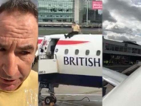 Un homme sur le toit d'un avion: la nouvelle action CHOC d'Extinction Rebellion (vidéo)
