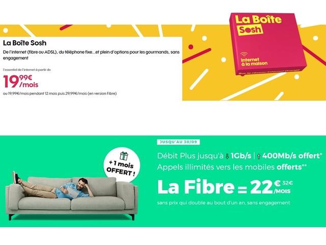 Sosh ou RED by SFR : quel est le meilleur abonnement Internet fibre actuellement?