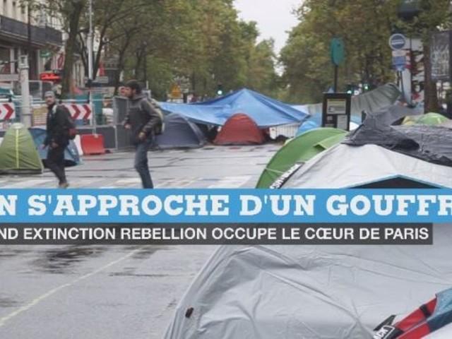 Le cœur de Paris occupé par les militants écologistes d'Extinction Rebellion