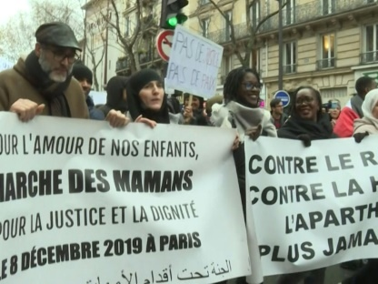 """Lycéens à genoux à Mantes-la-Jolie: manifestation un an après contre l'""""humiliation"""""""