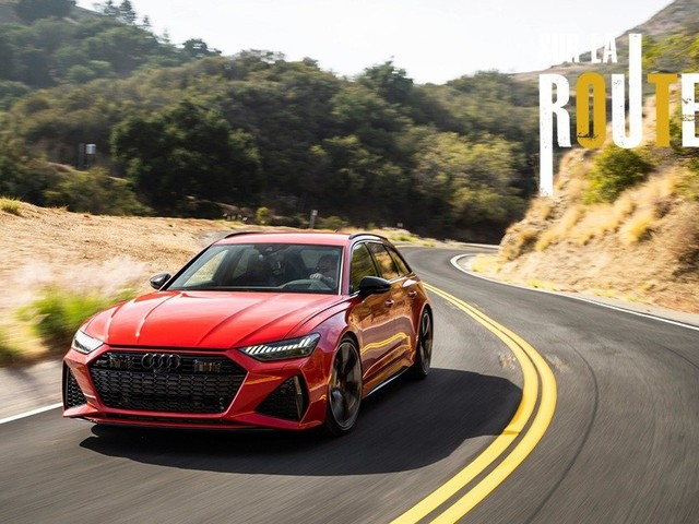 Sur la route : Gabriel Gélinas conduit la Audi RS 6 Avant 2020