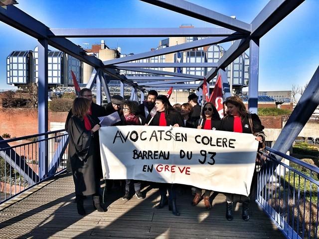 Réforme des retraites. La grève des avocats de Seine-Saint-Denis se poursuit, le tribunal au ralenti